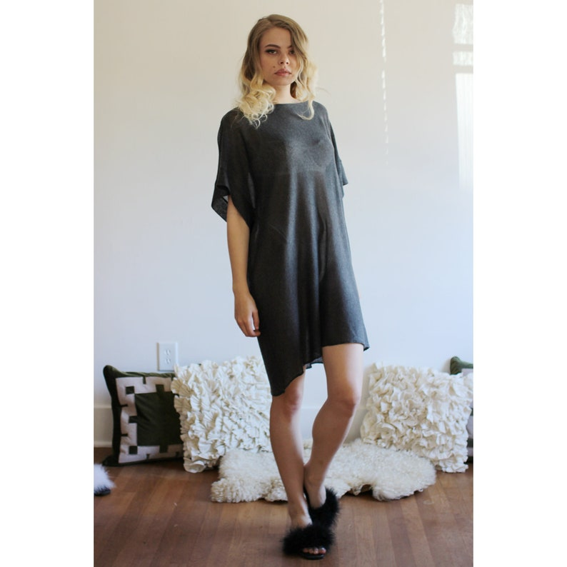 Silk and Cashmere Knit Nightgown Dress Oversized Sweater image 0