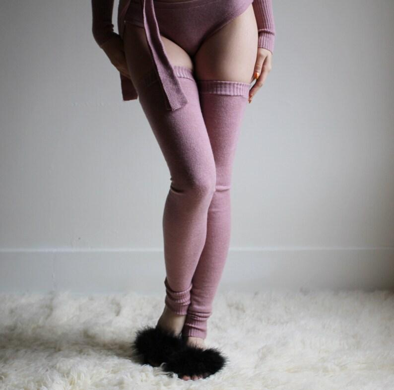 Merino Wool Stockings Leg Warmers Wool Stockings 100% Wool image 0