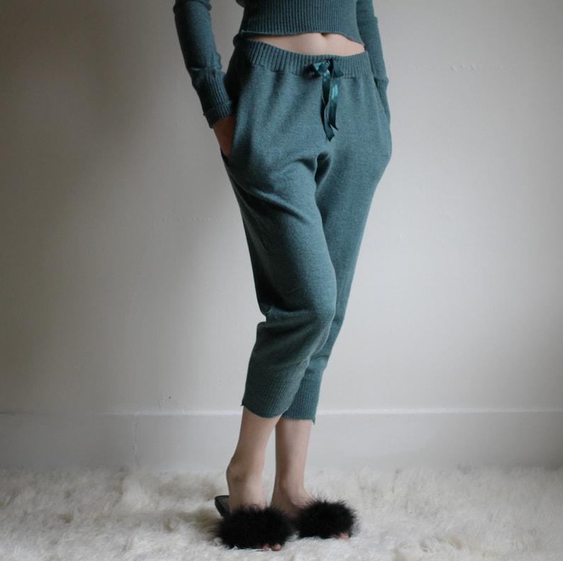 Merino Wool Joggers with Pockets Womens Lounge Pants Warm image 0