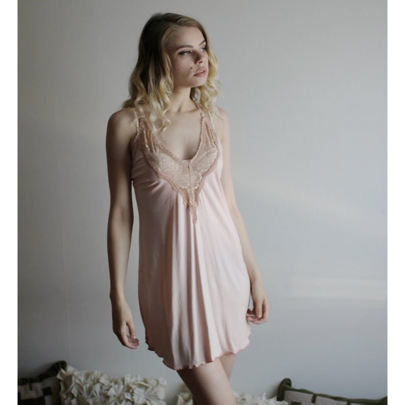 Bamboo Nightgown Womens Lingerie Pink Nightgown Natural image 0