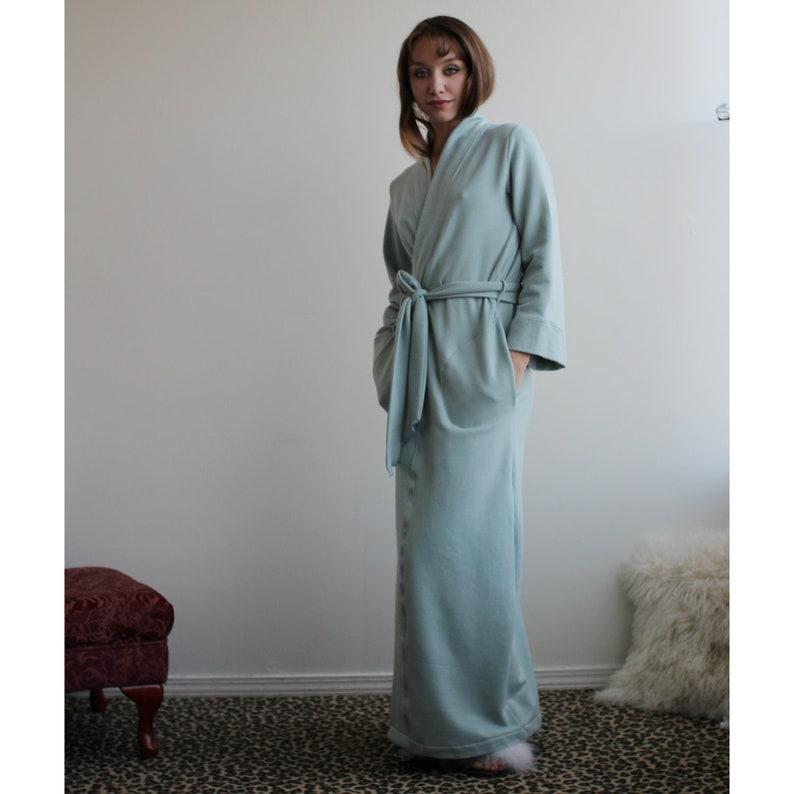 Womens Robe in Tencel and Organic Cotton Plush Stretch Fleece  481ded1c2