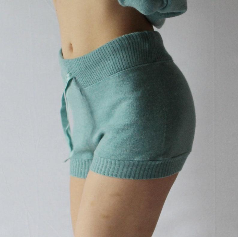 Womens Wool Sweater Shorts Merino Wool Warm Hot Pants 100% image 0
