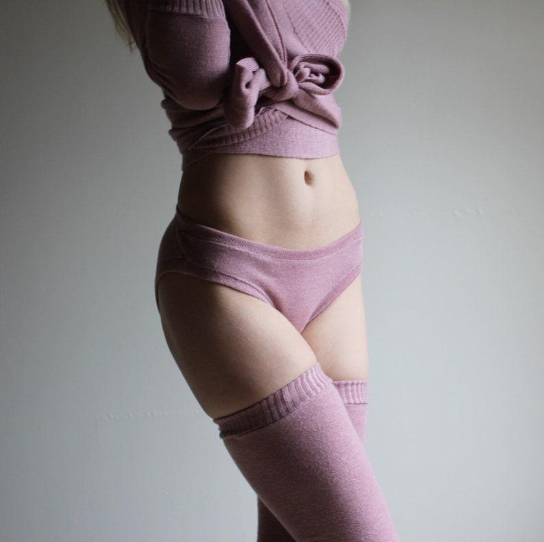 Wool Sweater Panties 100% Merino Wool Made to Order Wool image 0