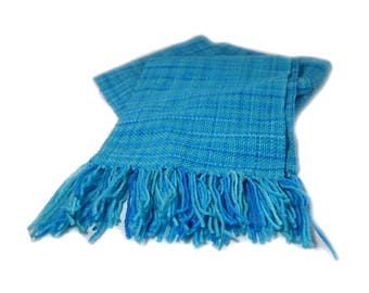 Blue Woven Scarf [Ready to Ship]