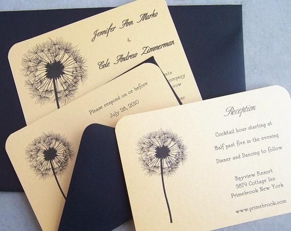 Löwenzahn Hochzeitseinladung: Natur Hochzeit Einladung