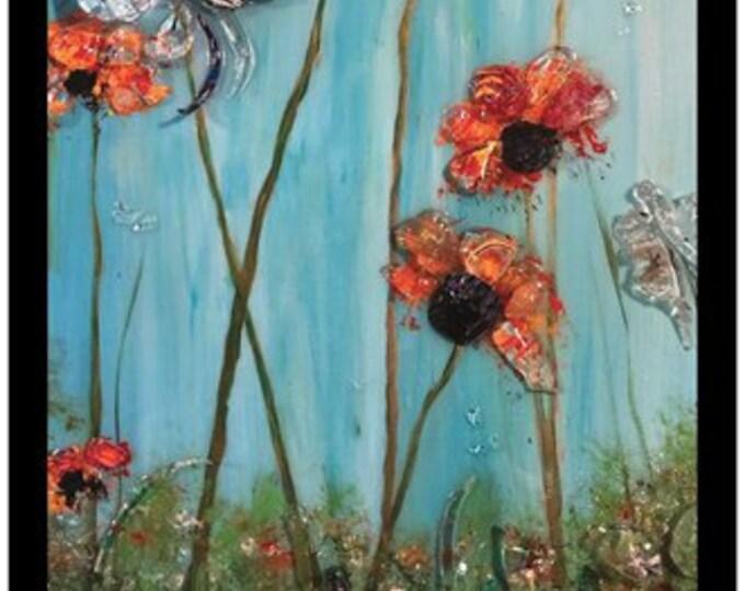 "Wild Flowers - Poster Print - 11"" x 17"" - by Artist:  Cindy Schafhirt, Makana Art Studio, Mississippi Gulf Coast"