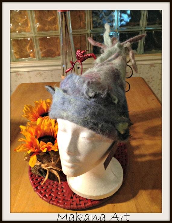 Alpaca Hat - fibre craft -art yarns - fiber yarn - weave - crochet