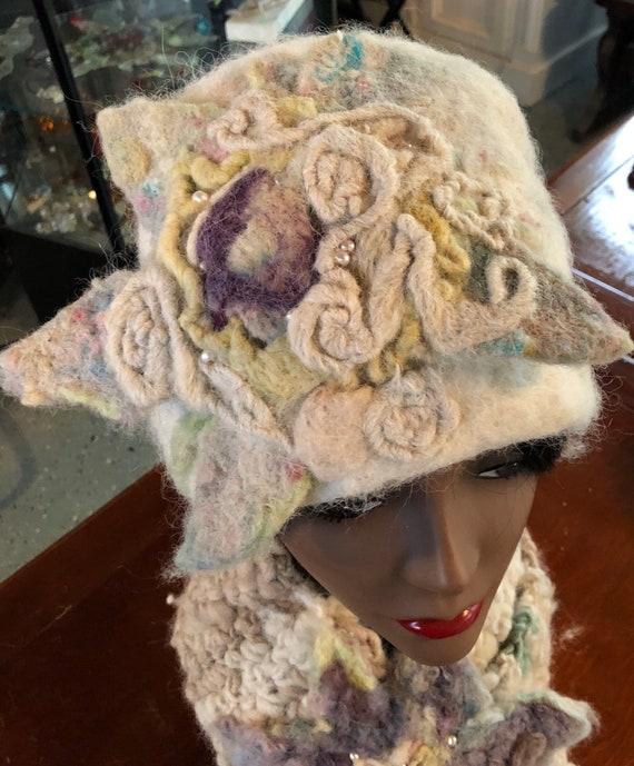 Custom order for Ann ONLY!! Hand Felted Hat made by Makana Art Studio!