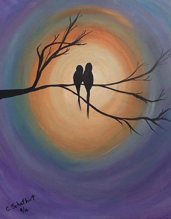 "Workshop: Painting ""Love Birds"" at Makana Art Studio - Biloxi, MS"