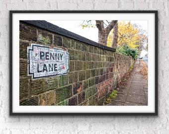 England Photography, Penny Lane, England Wall Art, The Beatles, Living Room Art, Music Room Art Print