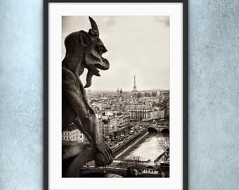 Paris Photography, Notre Dame Cathedral, Paris Bedroom Art, Paris Home Decor, Paris Print, Paris Sunrise