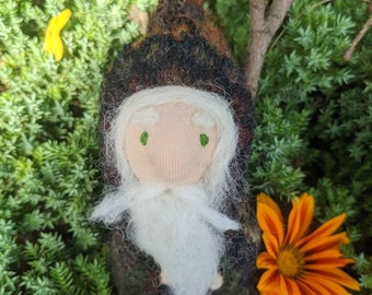 Toy gnome, waldorf toy, nature table figure, woodland gnome,