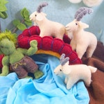Billy Goats Gruff, fairy tale characters, waldorf toy, storytelling kit, waldorf animal, waldorf toy, billy goat, stuffed toy