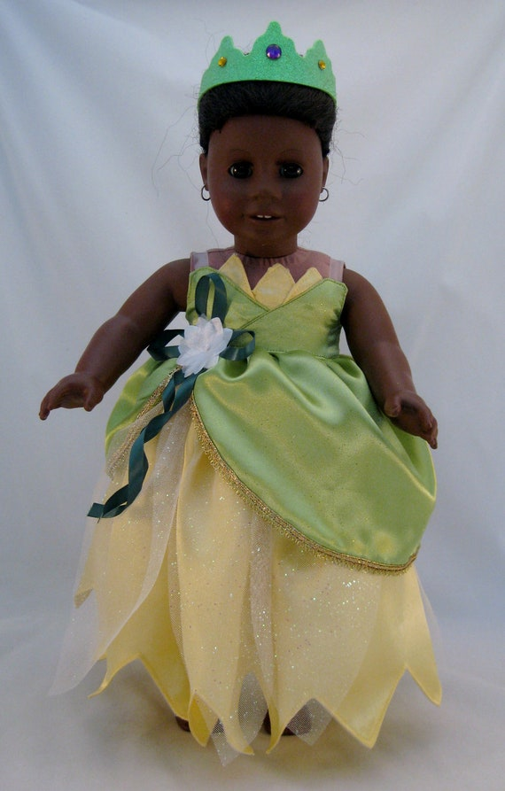 American Girl Doll Sized Princess Tiana Wedding Dress Princess