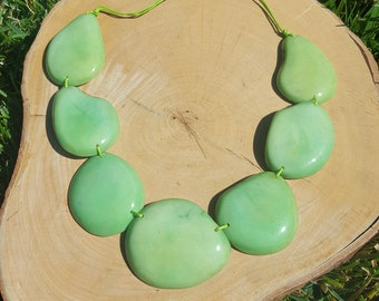 Tagua nut chunky necklace/ statement necklace/ big necklaces/gift ideas/chunky jewelryhandmade necklace