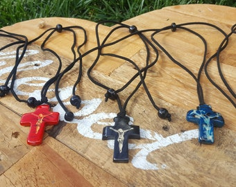 Crucifix necklace/ cross tagua necklace/cross necklace for men/ cross pendant/ catholic jewelry/christening gifts/religious gifts/communion