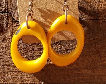Tagua sexy big hoops earrings eighties  inspired  2.5 inches long