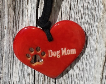 Dog Lovers jewelry/ Dog mom jewelry /Pet parents gift/For a cause/Dog lover gift/ Tagua paw pendant/ Heart necklace/ By Allie/ Cute gifts