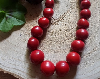 Tagua long chunky necklace/ Beaded bold necklace/ Vintage Tagua  jewelry/ Iris style jewelry  /Eco friendly jewelry/ Colorful  necklaces