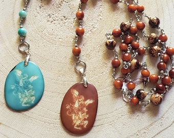 Chaplet of Saint Michael / Angels Rosary/ Catholic gifts/Tagua Rosary/Angels jewelry/Spiritual gifts/ Religious gifts /Faith Jewelry