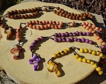 Tagua cross rosary by Allie/catholic rosary/religious jewelry/christian jewelry/tagua nut