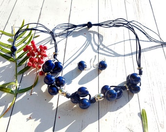 Shinny beaded necklaces/bold necklace/ statement necklace/handmade jewelry/gift ideas/by Allie