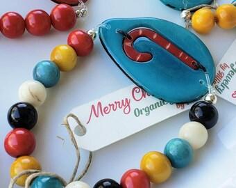 Christmas Bracelets/ gift ideas/ girlfriend bracelet/ girls bracelet/Christmas gift/ tagua bracelet by Allie