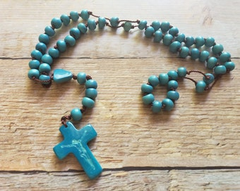 Tagua nut Rosary / Catholic gifts/ Religious Gifts/Catholic rosary/Inspirational gifts/ Eco friendly gifts/Faith jewelry