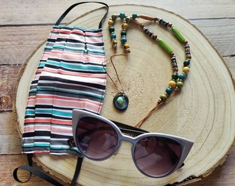 Tagua mask readers holder/Convertible mask holder necklace/Face Mask keeper/Multiwear 3 in 1 necklace, mask holder and sunglasses chain