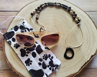 Face mask beaded necklace/ Sunglasses or readers holder/Face Mask keeper/3 in 1 necklace, mask holder and sunglasses necklace lanyard