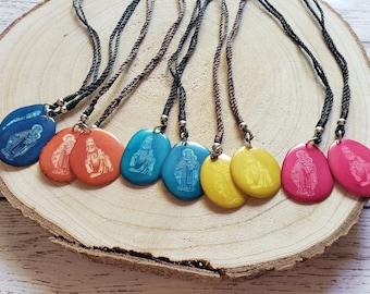 Colorful Scapular/Tagua scapular/Catholic scapular/Carmelites Scapular/ Religious gifts/ Catholic  jewelry/ Faith gifts