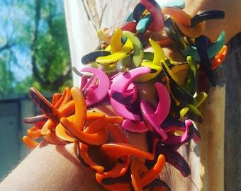 Rustic tagua bracelets/ Chunky statement bracelets/C bracelet/ Handmade bracelets/ Stretch bracelets/ Boho bracelets/ Stackable bracele