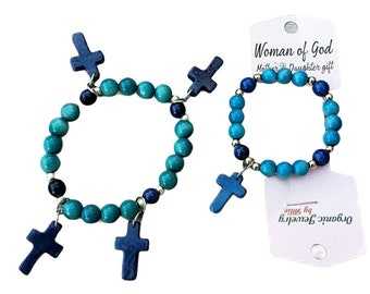 Mother and daughter gifts/ Religious gifts/Mothers and Daughter Christmas gift/ Cross bracelets/Spiritual Gift/ Inspirational Faith gifts