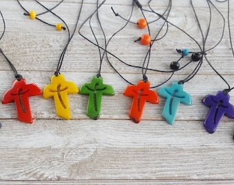 Crucifix necklace/ Cross tagua necklace/Cross pendant UNISEX/ Communion Favor/ Catholic jewelry/Christian gifts/Religious gifts/