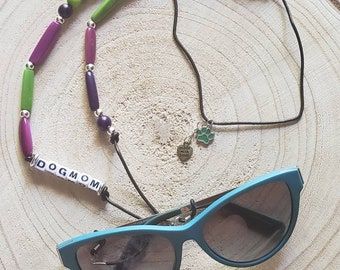 Handmade mask and sunglasses holder/ Gifts for cat moms /Dog mom gifts/Cute gifts/ Gifts giving back/ Animal lover glass holder necklace
