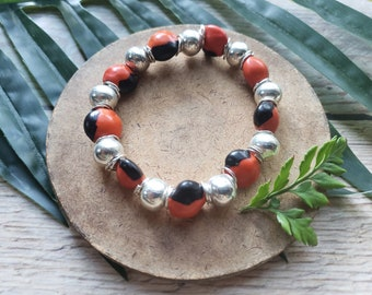 Tribal unisex stretchy seeds bracelet/ Shaman Jewelry/ Rainforest jewelry/ Evil Eye bracelet/ Magic bracelets/ Seeds and silver bracelets