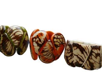 Drops bracelets/ Tagua colorful Bracelets/Rustic Bracelet/ Ecofriendly Bracelet/ GREEN Bracelet/ Boho Chic Bracelet/Statement Bracelets/ eco
