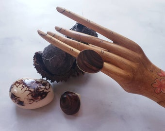 Tagua nut SIZE 5.5 Rings/ Vegetable ivory rings/ /Rustic nut rings /Wood rings/Statement bold rings/ecofriendly rings/Oversized big rings
