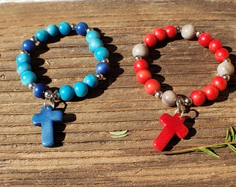 Girls bracelets/ christian gifts ideas/ Daughter Grandaughter gifts /cross bracelet for kids/communion favor/religious jewelry