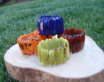 PalitosTagua nut glossy bracelets stick shaped many colors/tagua nut/tagua jewelry