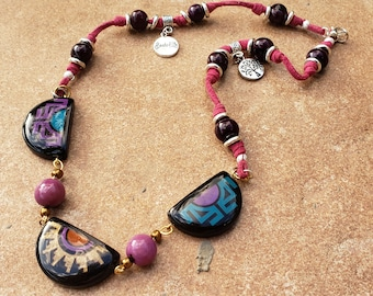 Ethnic necklace/ Tagua necklace/ Tribal Necklace/Handcrafted Eco friendly Necklace/Eco fashion/Boho  jewelry