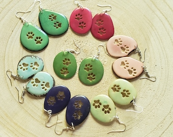Paw earrings/ Dog lovers jewelry/ girls gifts/ TAGUA EARRINGS/FOR Charity/ cute gifts/Cat lovers gifts/charity gifts/cool jewelry