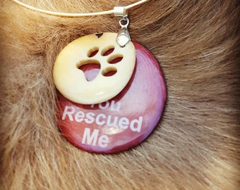 Tagua nut paw pendant/Dog lovers gifts/ Paw necklace/Charity gifts/ Unique gifts/ Holiday gifts/Dog Rescue Gifts/Rescue parents gift idea