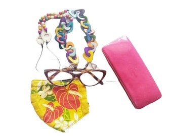 Sunglasses & mask holder chain/Chained Tagua eyeglasses necklace/2 in 1 mask readers holder many colors/ Gifts for mom/ Gifts for teachers