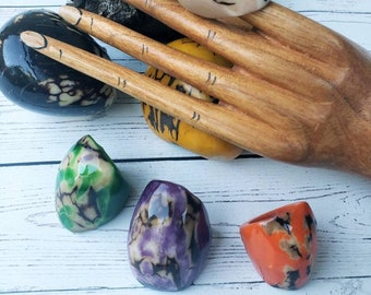 Tagua nut rings SIZE 6/ Rustic Rings/Chunky Rings/Nut wooden Rings/ Raw Rings Ecofriendly nuts/Statement big oversized rings
