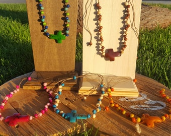 Sideways cross necklace/cross pendant/ crucifix necklace/catholic jewelry/christian jewelry/religious jewelry/communion favor
