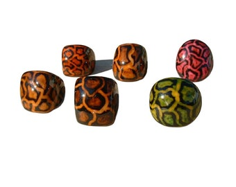 Leopard ring SIZE 7.5 /Tagua Ring/ Wooden Rings/ Animal print rings/ Hand painted rings/ Organic Rings/ Statement Rings