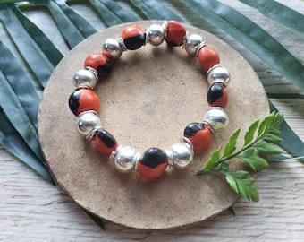Tribal unisex stretchy seeds bracelet/ Shaman Jewelry/ Rainforest jewelry/ Evil Eye bracelet/ Magic bracelets/ Seeds and silver bracelets