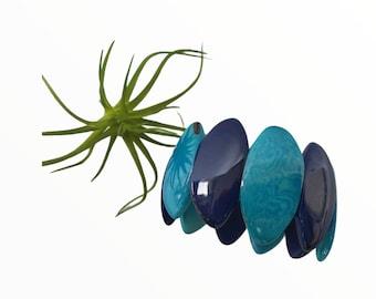 Tagua bracelet/ Bold cuff bracelet/ Colorful bracelets/ Gift ideas for her/Eco-friendly Handmade Bracelet/ Elastic Bracelet/Boho Bracelet