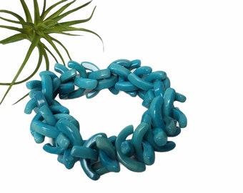 Beaded tagua bracelets/Colorful Funky chunky bracelet/ C Bold bracelets/ Statement stretch bracelet/Eco friendly Bracelets/ Mod bracelets